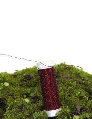 bulliontråd, vinröd-0