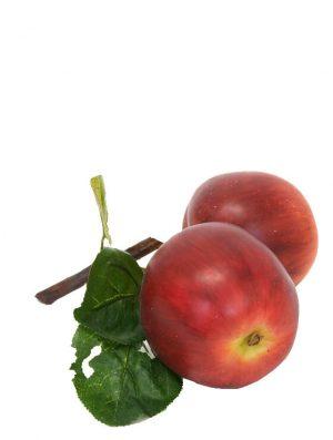 Äpple på kvist, röda, konstgjorda-0