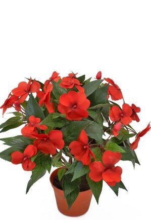 Flitiga Lisa, röd, konstgjord krukväxt sommarblomma-0