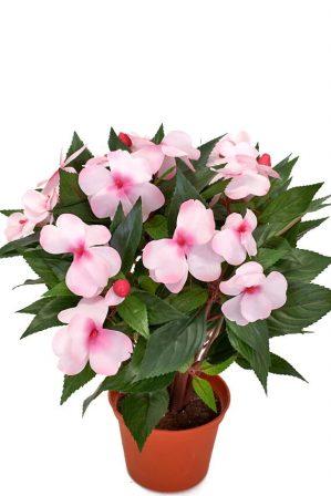 Flitiga Lisa, rosa, konstgjord krukväxt sommar-0