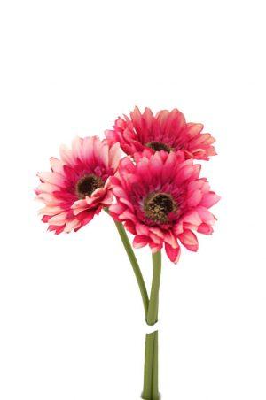 Gerbera, cerise 3-pack, konstgjord blomma-0
