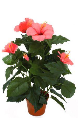 Hibiscus, cerise, konstgjord blomma-0