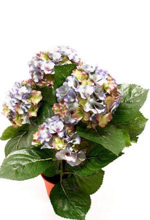 Hortensia blå grön, konstgjord krukväxt-0