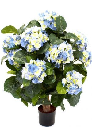 Hortensia på stam, blå, konstgjord-0