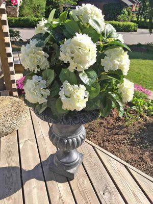 Hortensia på stam, vit, konstgjord-0