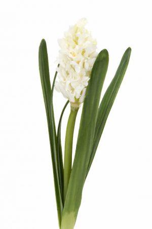 Hyacint, vit, konstgjord blomma-0