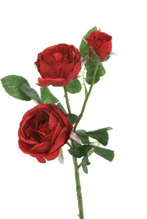 Kvistros, röd, Konstgjord blomma-0