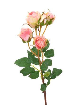 Kvistros, rosa, konstgjord blomma-0