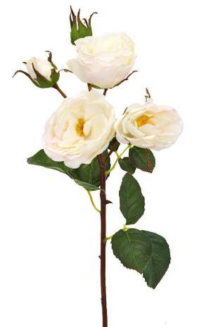 Kvistros, vit, konstgjord blomma-0
