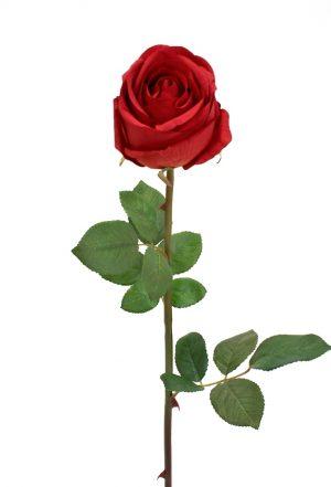 Ros, röd, konstgjord blomma-0