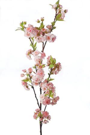 Körsbärsblom, rosa, konstgjord blomma-0
