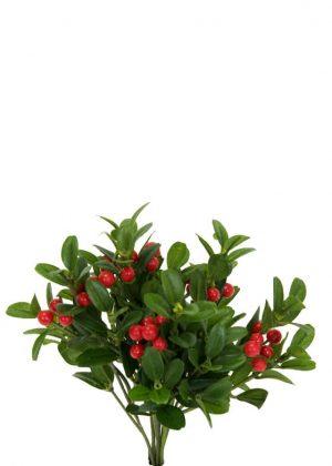 Lingonris, bunt, konstgjord växt-0