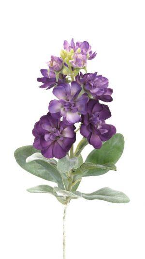 Lövkoja, lila, konstgjord blomma-0
