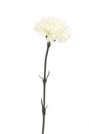 Nejlika, gräddvit, konstgjord blomma-0