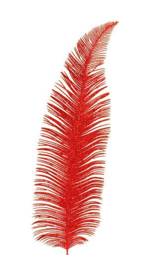 Palmblad, rött glitter-0
