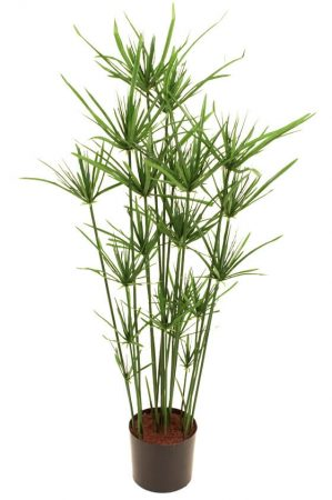 Papyrus, konstgjord grön krukväxt-0