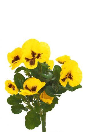 Pensé, gul, konstgjord blomma-0