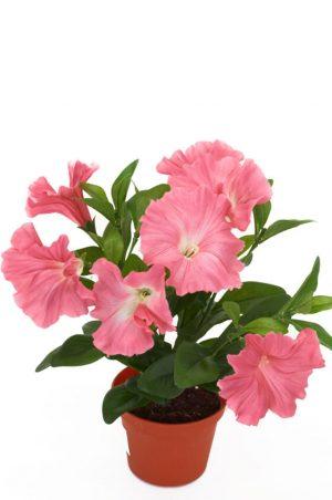 Petunia, rosa, konstgjord blomma-0