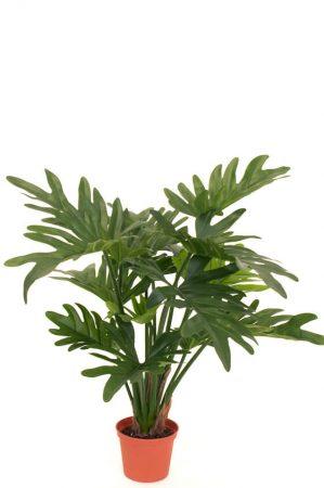 Philodendron, grön, konstgjord krukväxt-0