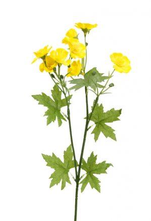 Smörblomma, gul, konstgjord blomma-0