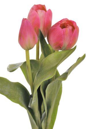 Tulpan 3-pack, cerise, konstgjord blomma-0