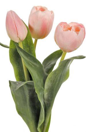 Tulpan 3-pack, ljusrosa, konstgjorda blommor-0