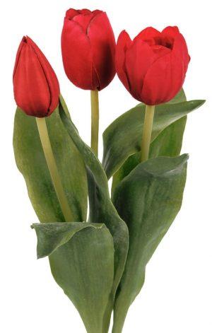 Tulpan 3-pack, röd, konstgjord blomma-0