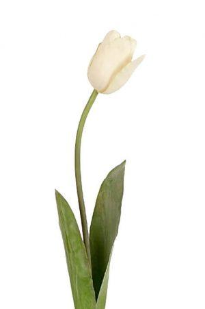 Tulpan, creme, konstgjord blomma-0