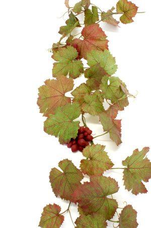 Vinranka med vinröda druvor, konstgjord-0