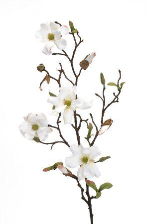 Magnolia, vit, konstgjorda blommor-0