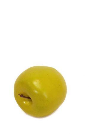 Äpple, gul grön, konstgjord frukt-0