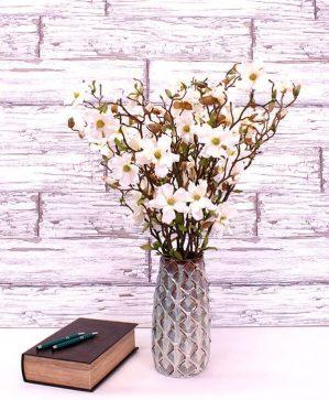 Magnolia, vit, konstgjorda blommor-4572