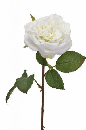 Ros, vit, konstgjord blomma -0