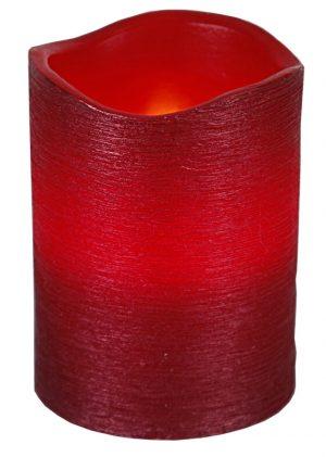 Vaxljus, rött, LED med timer-0