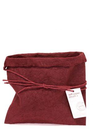 paper bag, handgjord, vinröd-0