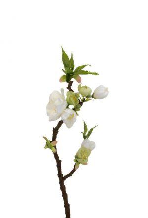 Äppelblom, vit, konstgjord kvist-0