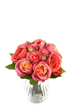 Bukett, rosor, konstgjord-0