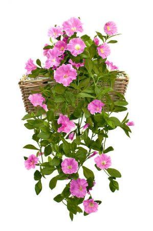 Petunia häng i kruka, lila, konstgjord-0