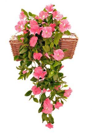 Petunia häng i kruka, rosa, konstgjord-0