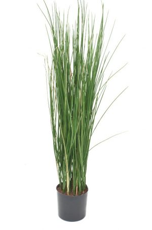 Gräs i kruka, grön konstgjord krukväxt-0