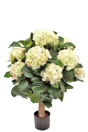 Hortensia på stam, vit rosa, konstgjord-0