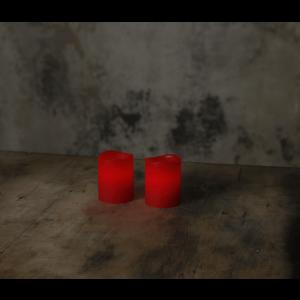 Vaxljus 2-pack, rött, LED med timer-0