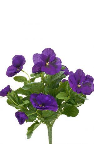 Pensé, blå, konstgjord blomma -0