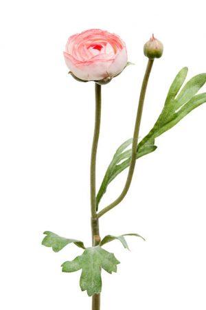 Ranunkel, vit rosa, konstgjord blomma-0