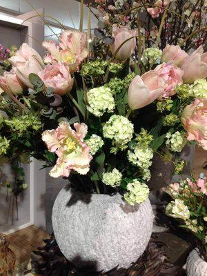 Tulpan, rosa, konstgjord blomma-0