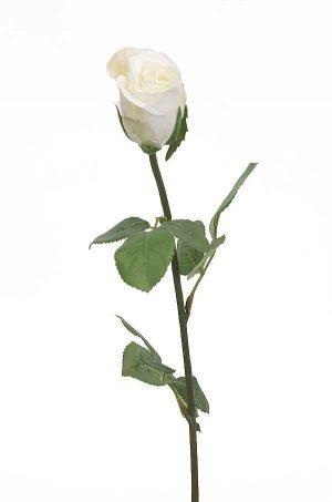 Ros, creme, vit, konstgjord blomma-0