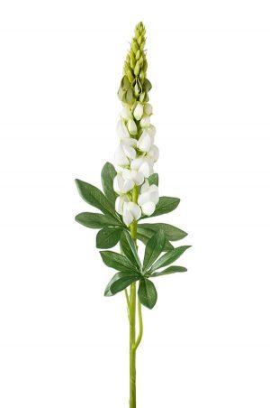 Lupin, vit, konstgjord blomma-0