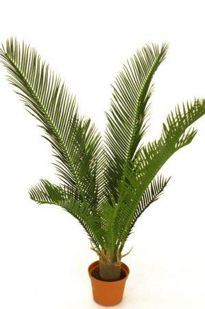 Cykaspalm, konstgjord grön krukväxt-0