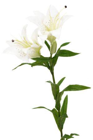 Lilja, vit, konstgjord blomma-0