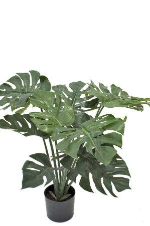 Monstera, konstgjord grön krukväxt-0
